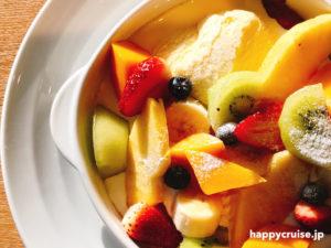 果樹園リーベルのモーニングのフルーツたっぷりフレンチトースト