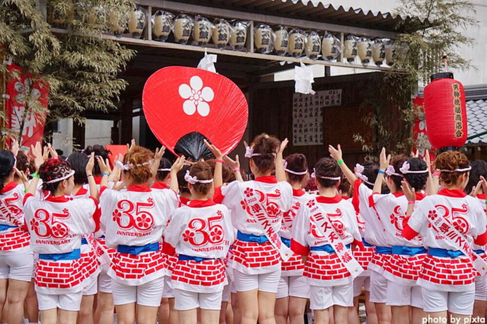 大阪天神祭 日程 場所 見どころ ギャルみこし 奉納花火 アクセス