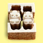 東京の銀座にあるカタヌキヤのこどもパンダ