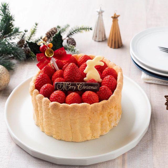 いちびこ新宿店限定クリスマスケーキ2020 いちごのシャルロット5号(NEWoMan新宿店限定)