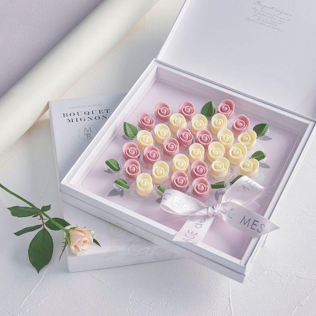 メサージュドローズ 薔薇のチョコレートがおしゃれなブーケミニヨン