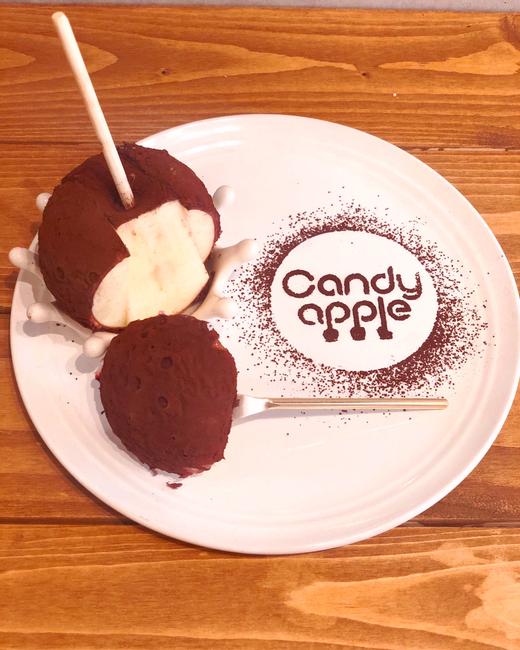 東京代官山にあるキャンディアップルのりんご飴ピュアココア