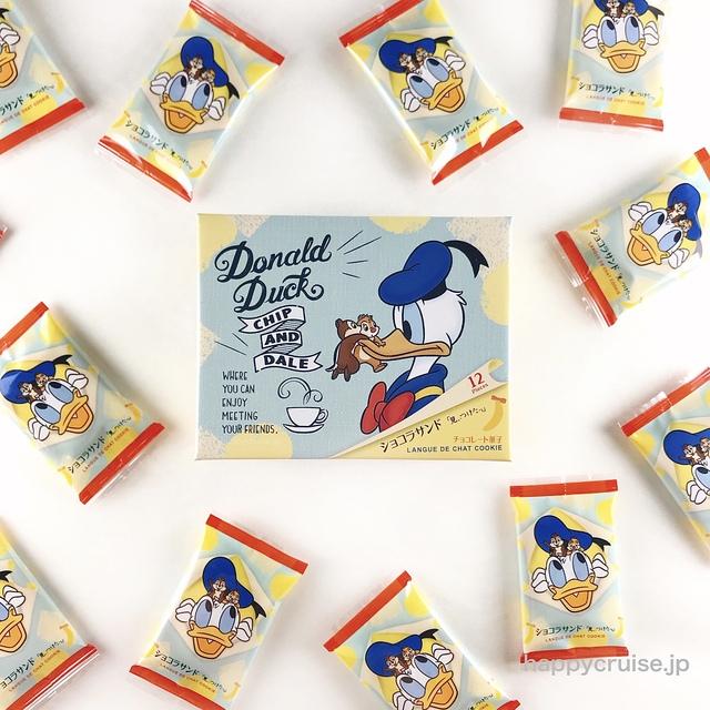 東京ばな奈×ディズニー【ドナルドダック・チップ&デール ショコラサンド】かわいい東京駅お土産におすすめ♡